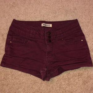 BLUESPICE high waisted shorts.